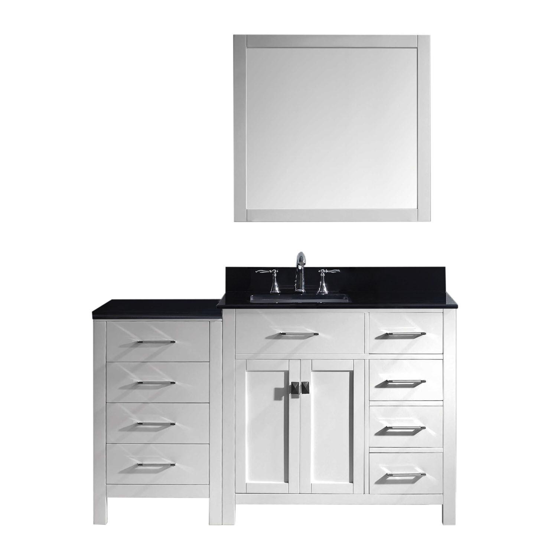 Virtu MS-2157R-BGSQ-ES-002 Caroline Parkway 57 Inch Single Bathroom Vanity Set In Espresso