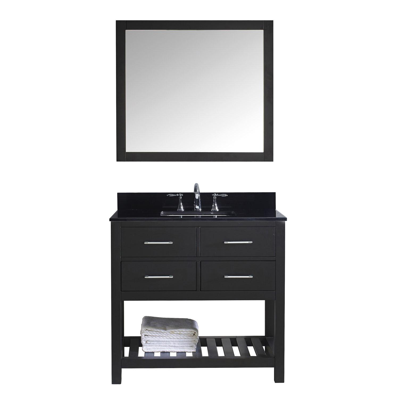 Virtu MS-2236-BGSQ Caroline Estate 36 Inch Single Bathroom Vanity Set