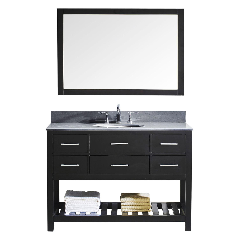 Virtu MS-2248-GQRO-ES-002 Caroline Estate 48 Inch Single Bathroom Vanity Set In Espresso