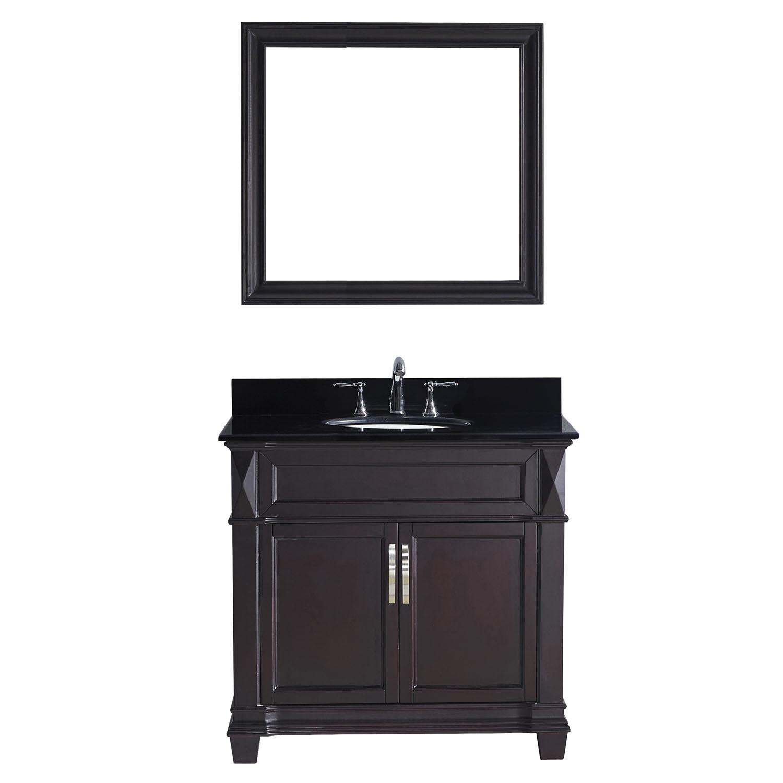 Virtu MS-2636-BGRO-ES-002 Victoria 36 Inch Single Bathroom Vanity Set In Espresso
