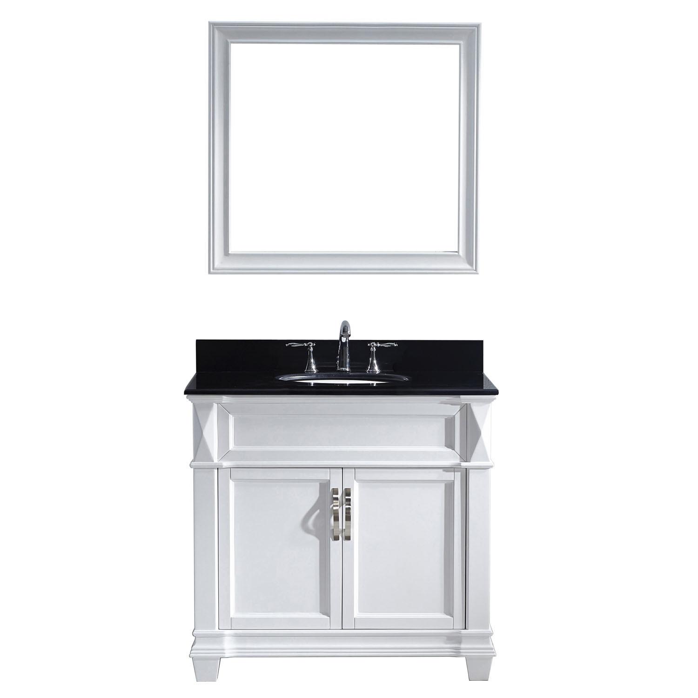 Virtu MS-2636-BGRO-WH-001 Victoria 36 Inch Single Bathroom Vanity Set In White