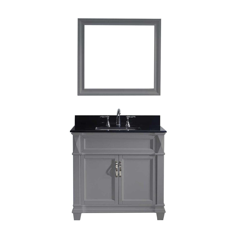 Virtu MS-2636-BGSQ-GR-002 Victoria 36 Inch Single Bathroom Vanity Set In Grey