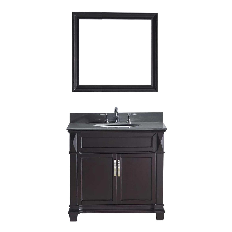 Virtu MS-2636-GQRO-ES Victoria 36 Inch Single Bathroom Vanity Set