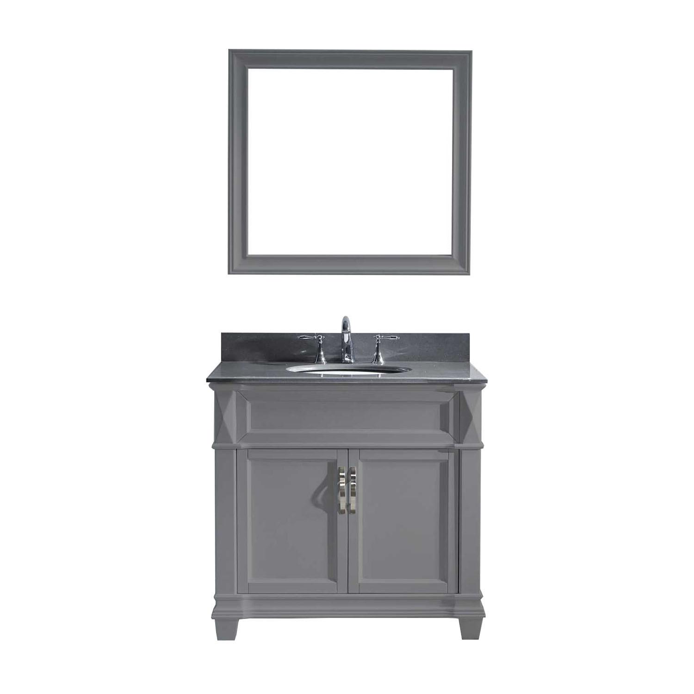 Virtu MS-2636-GQRO-GR-001 Victoria 36 Inch Single Bathroom Vanity Set In Grey