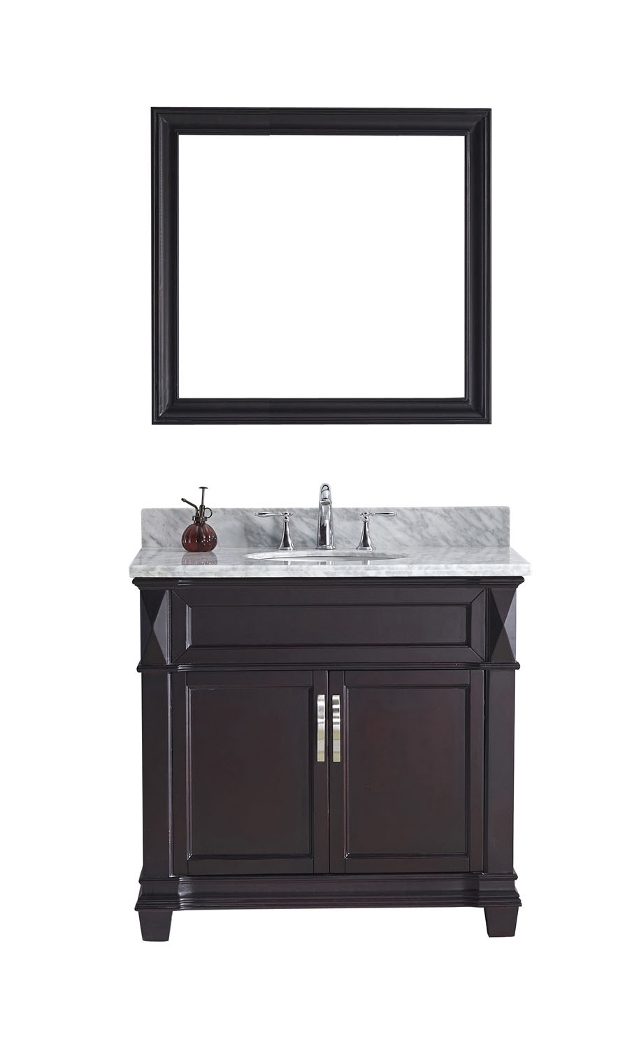 Virtu MS-2636-WMRO-ES Victoria 36 Inch Single Bathroom Vanity Set