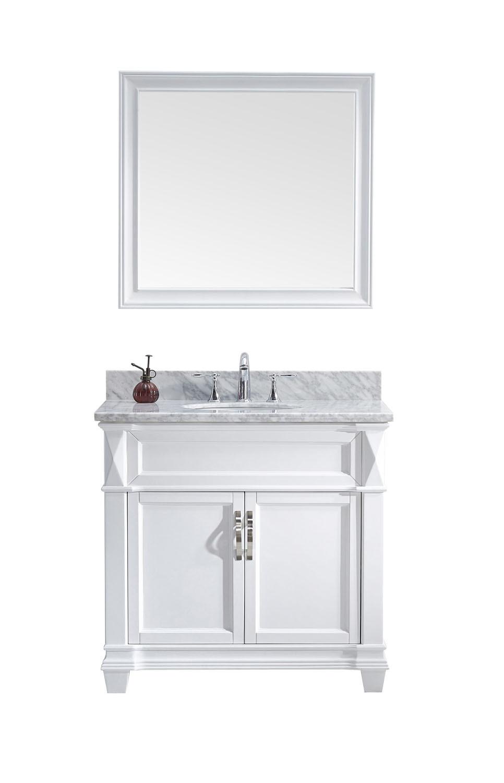 Virtu MS-2636-WMRO-WH-001 Victoria 36 Inch Single Bathroom Vanity Set In White