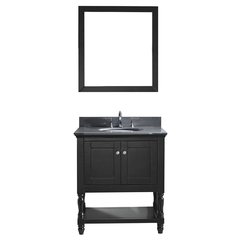 VIRTU MS-3132-GQRO-ES-001 Julianna 32 Inch Single Bathroom Vanity Set In Espresso
