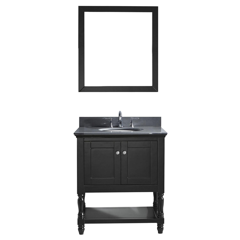 VIRTU MS-3132-GQRO-ES-002 Julianna 32 Inch Single Bathroom Vanity Set In Espresso
