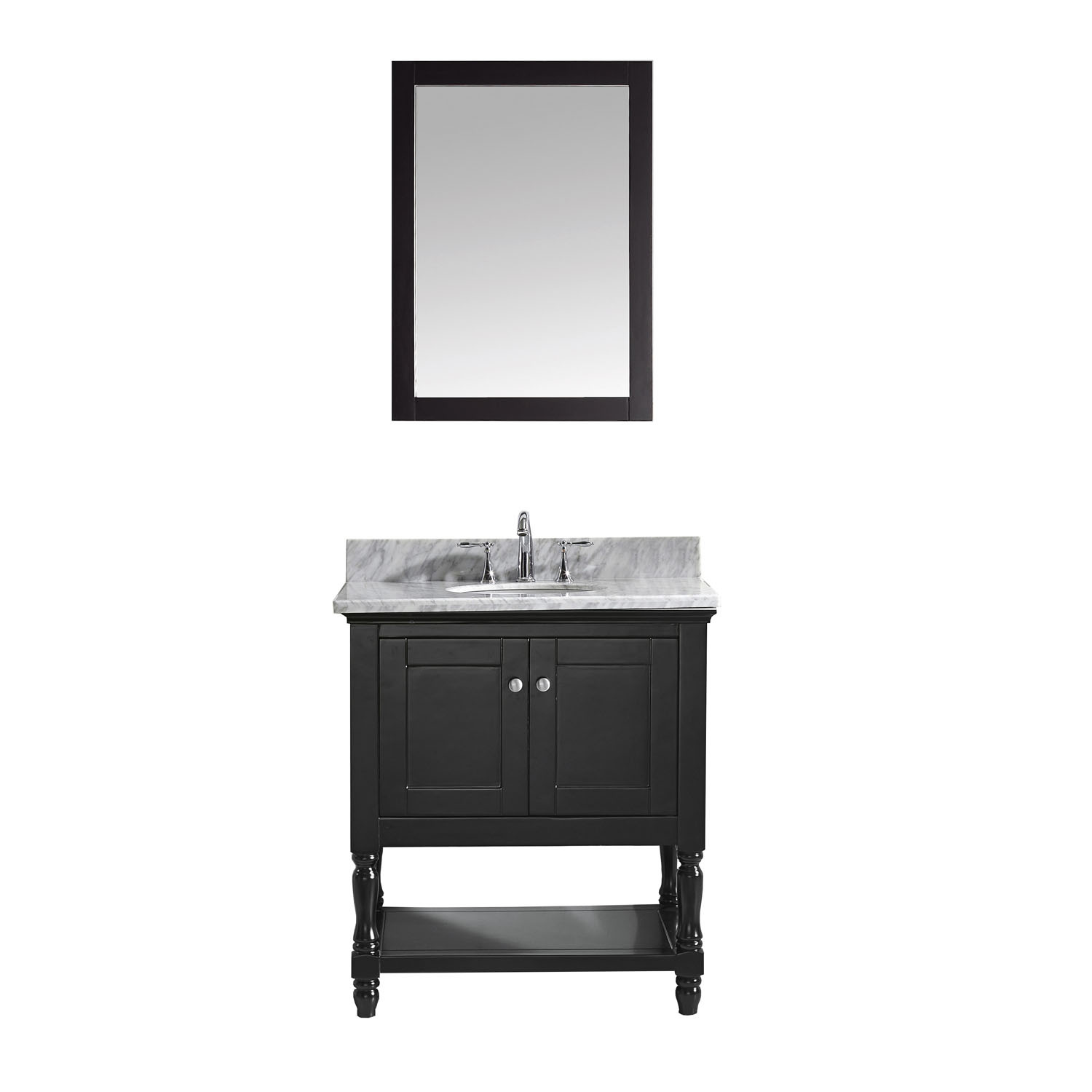 VIRTU MS-3132-WMRO-ES-002 Julianna 32 Inch Single Bathroom Vanity Set In Espresso