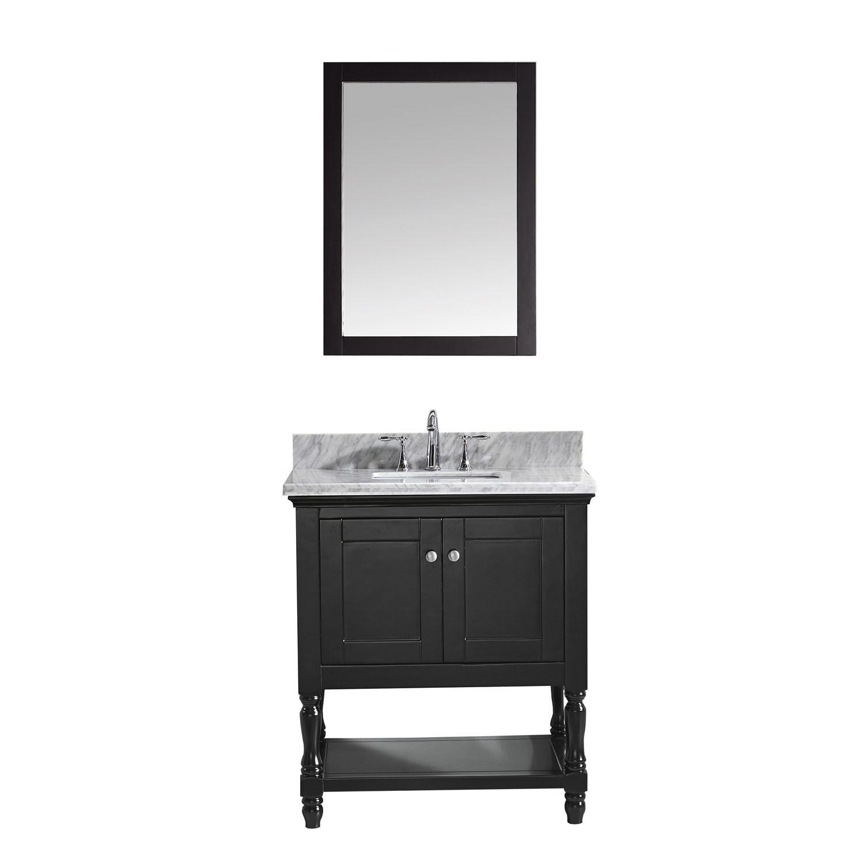 VIRTU MS-3132-WMSQ-ES-002 Julianna 32 Inch Single Bathroom Vanity Set In Espresso