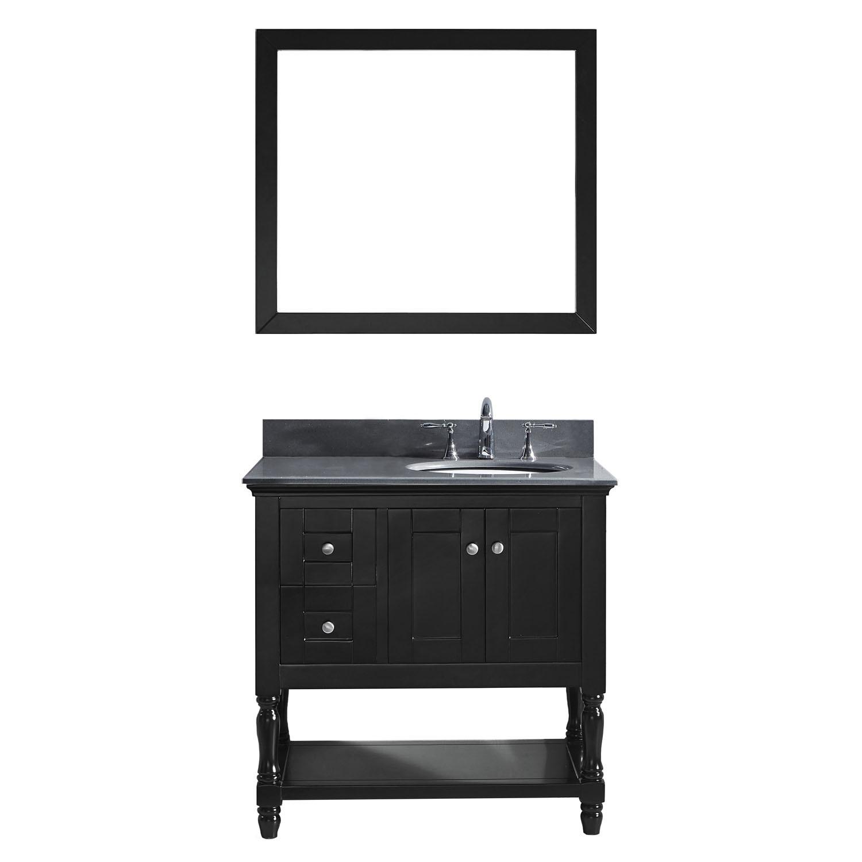 VIRTU MS-3136-GQRO-ES Julianna 36 Inch Single Bathroom Vanity Set In Espresso