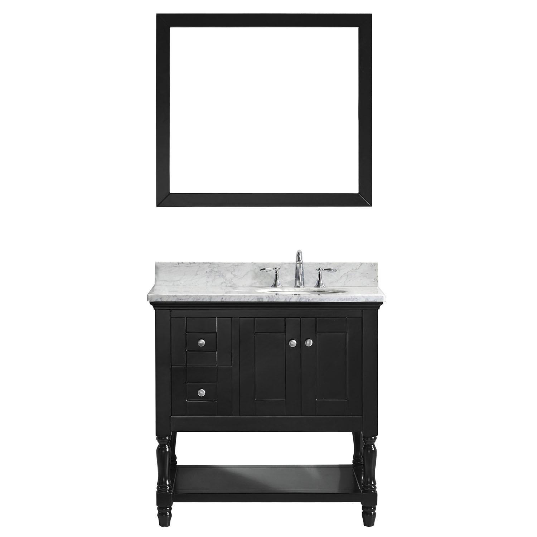 VIRTU MS-3136-WMRO-ES-001 Julianna 36 Inch Single Bathroom Vanity Set In Espresso