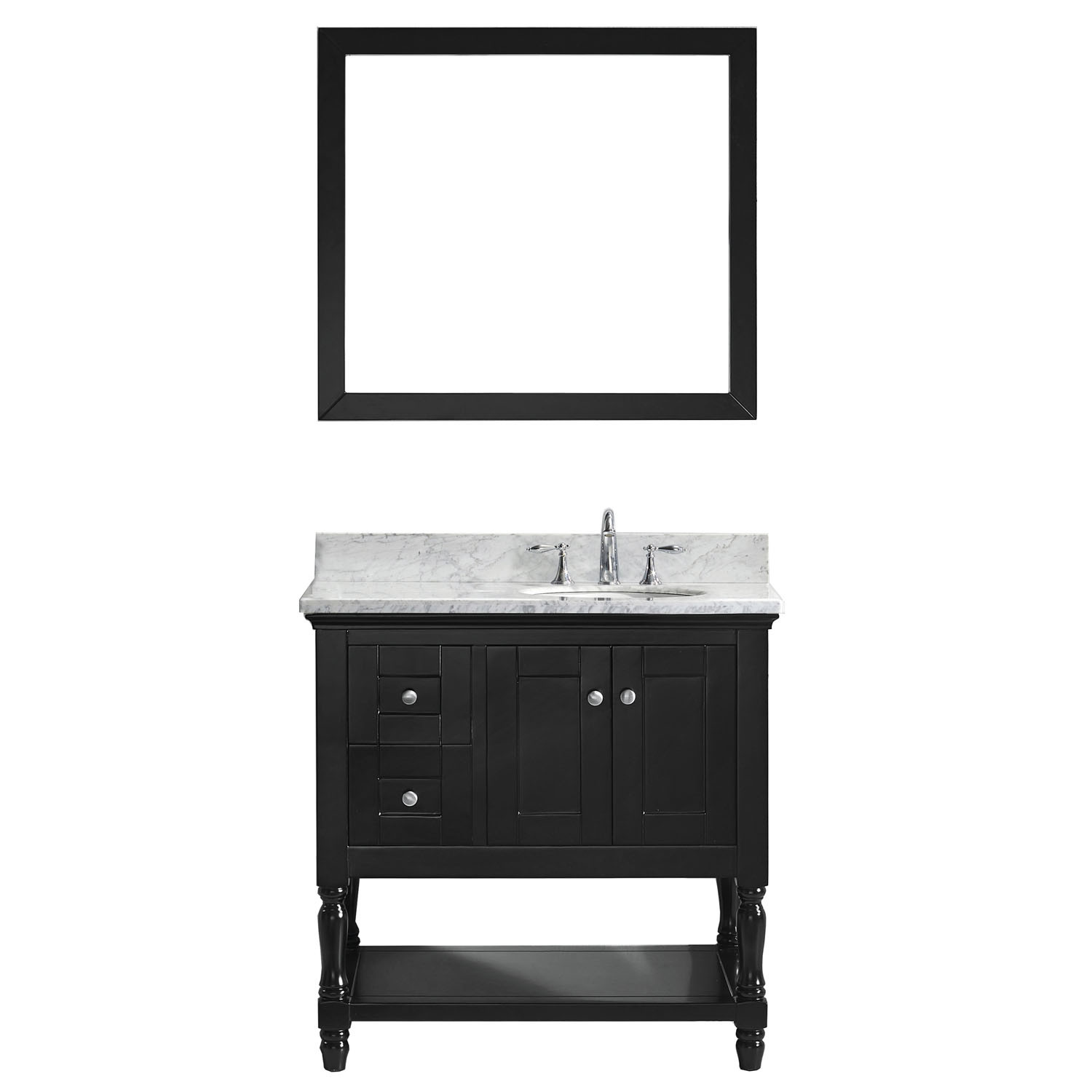 VIRTU MS-3136-WMRO-ES-002 Julianna 36 Inch Single Bathroom Vanity Set In Espresso