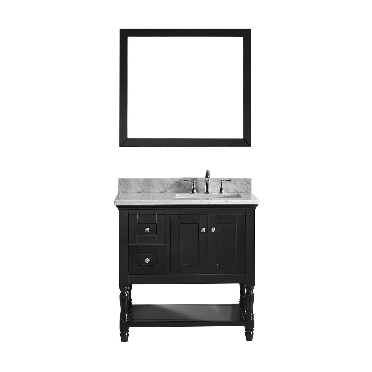 VIRTU MS-3136-WMSQ-ES-002 Julianna 36 Inch Single Bathroom Vanity Set In Espresso