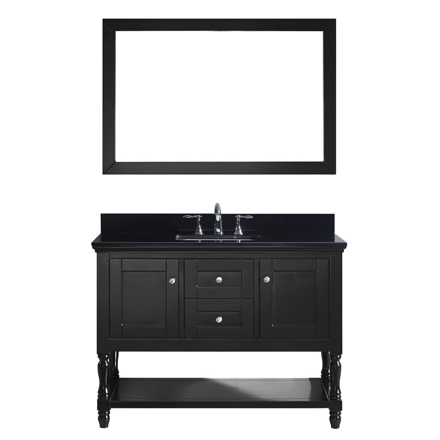VIRTU MS-3148-BGSQ-ES-001 Julianna 48 Inch Single Bathroom Vanity Set In Espresso