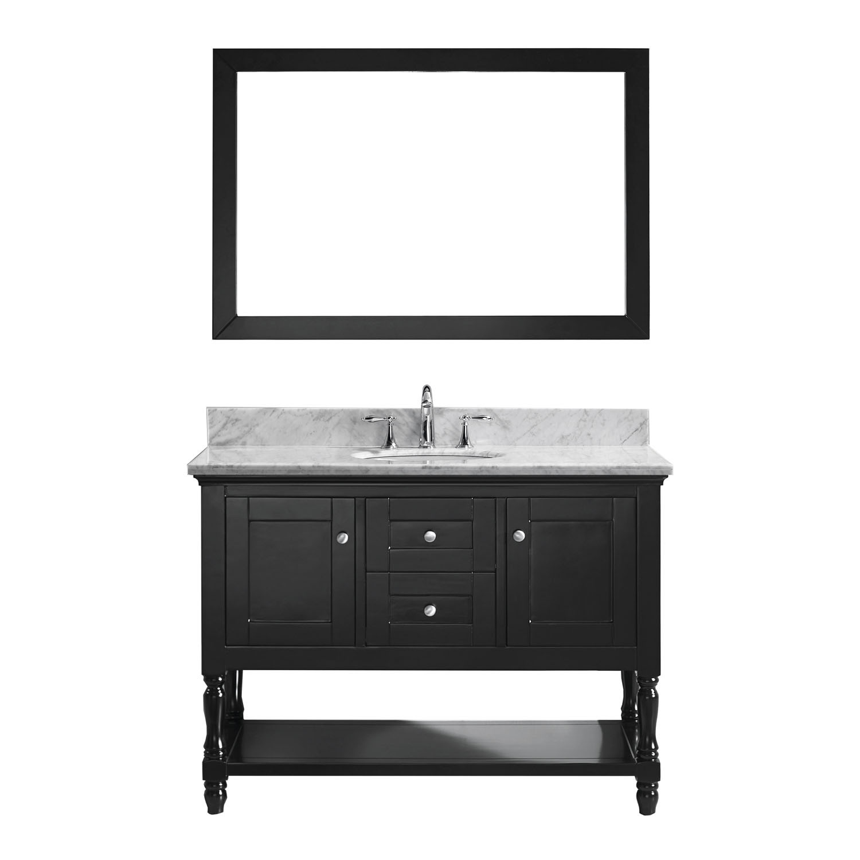 VIRTU MS-3148-WMRO-ES-001 Julianna 48 Inch Single Bathroom Vanity Set In Espresso