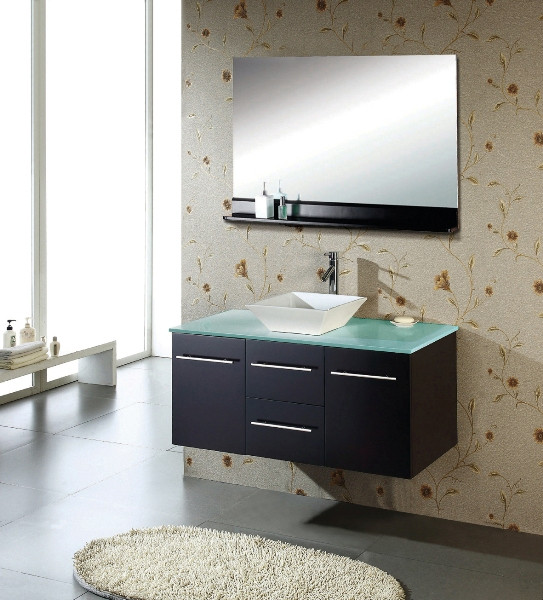 Virtu USA MS-420-G-ES Tempered Glass Countertop