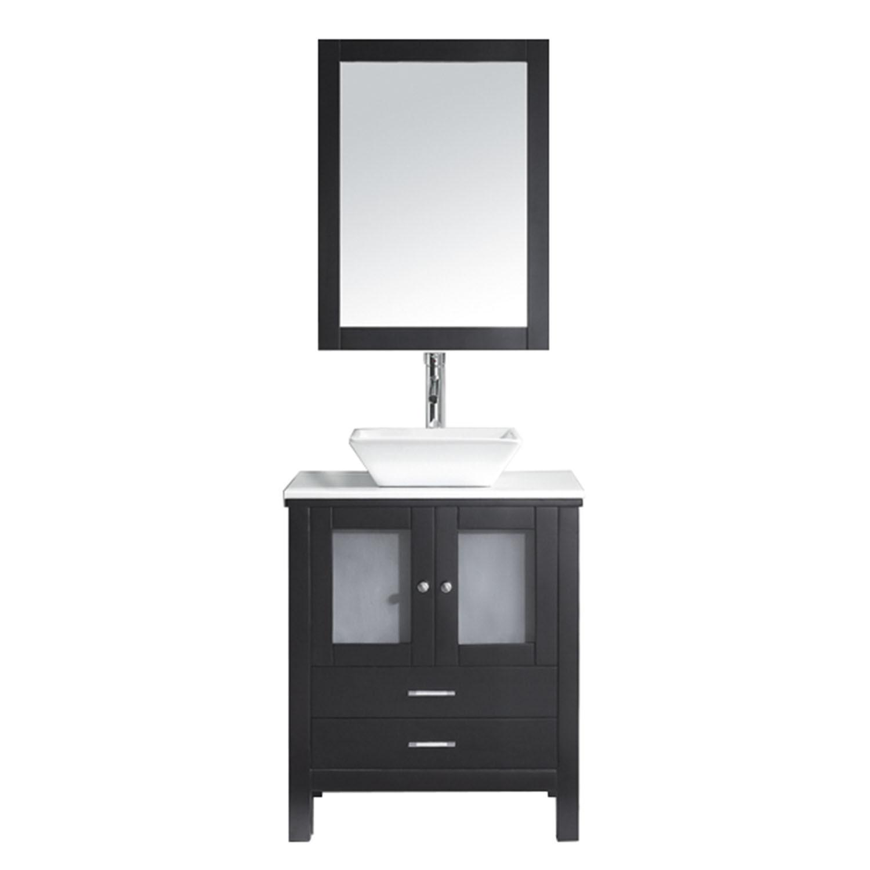 VIRTU MS-4428-S-ES-001Brentford 28 Inch Single Bathroom Vanity Set In Espresso