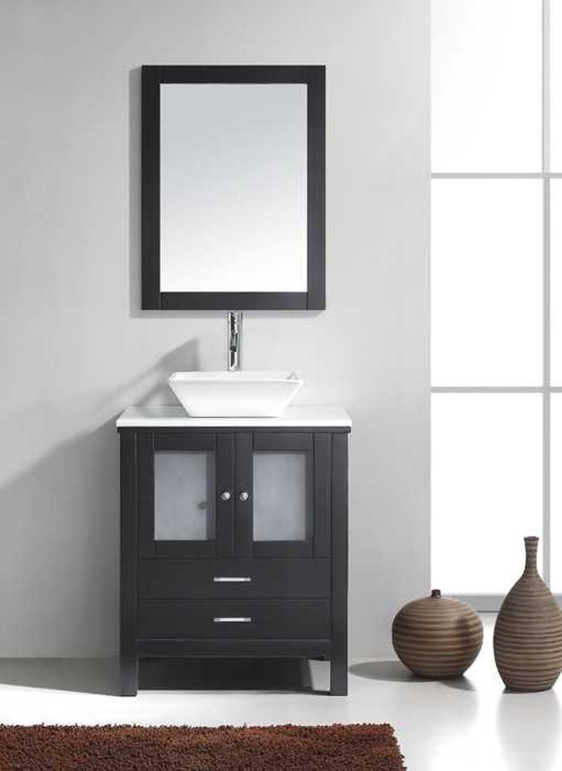 VIRTU MS-4428-S-ES Brentford 28 Inch Single Bathroom Vanity Set In Espresso