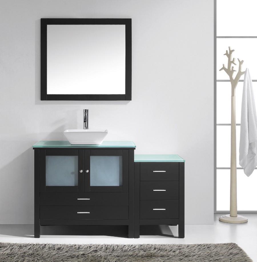 """Virtu MS-4454-G-ES-001 54"""" Brentford Espresso Single Sink Bath Vanity"""