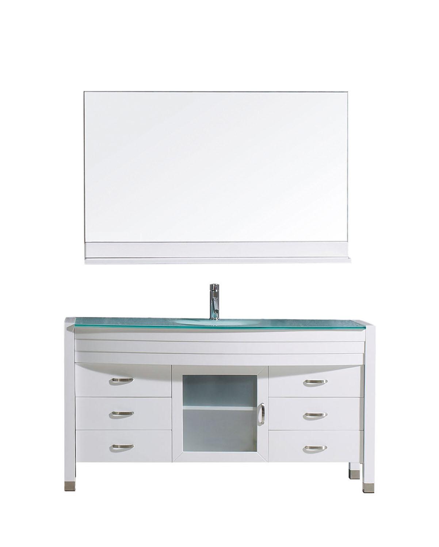 Virtu MS-5055-G-WH-001 Ava 55 Inch Single Bathroom Vanity Set In White