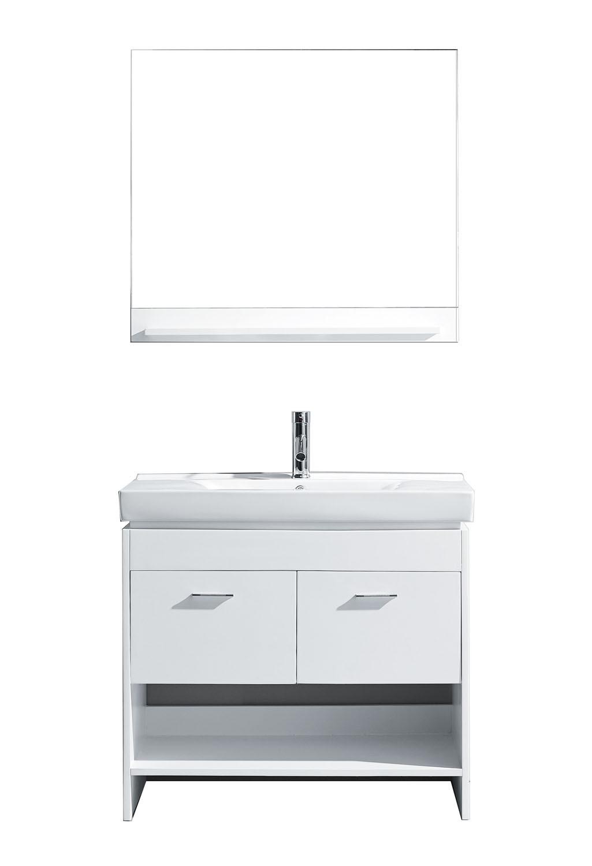 Virtu MS-555-C-WH-001 Gloria 36 Inch Single Bathroom Vanity Set In White