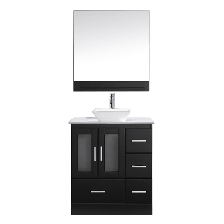 VIRTU MS-6730-S-ES Zola 30 Inch Single Bathroom Vanity Set In Espresso