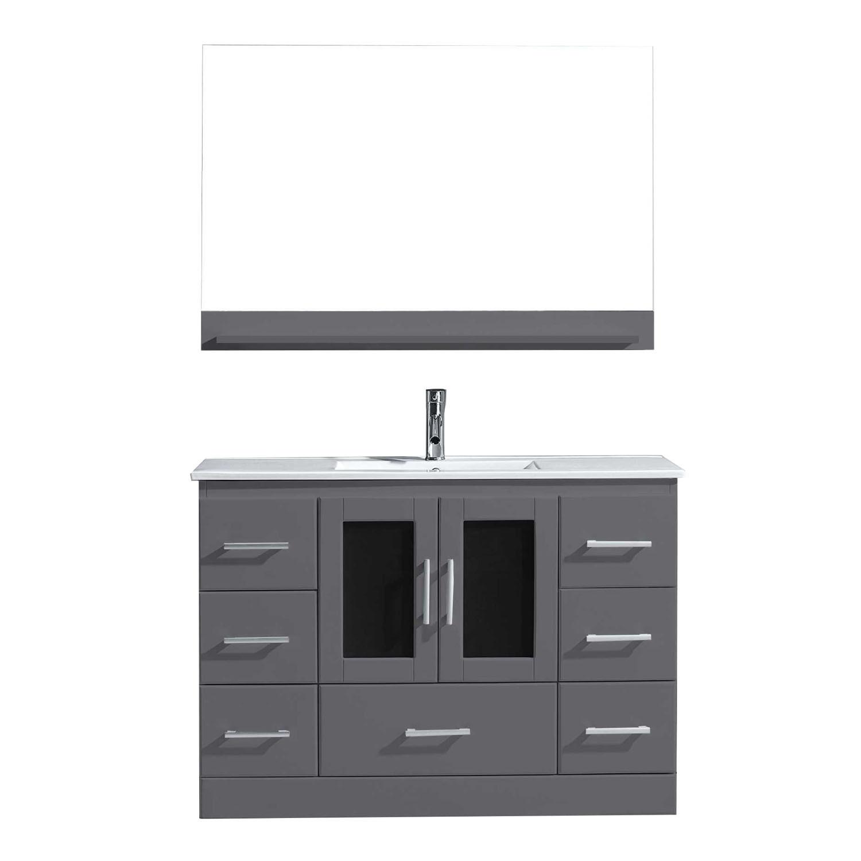 Virtu MS-6748-C-GR Zola 48 Inch Single Bathroom Vanity Set In Grey