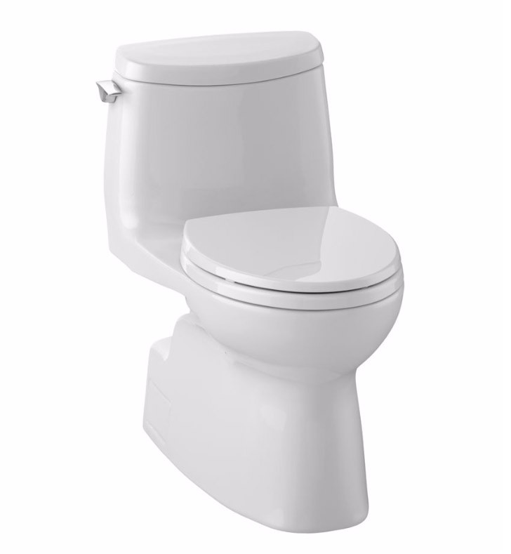 TOTO MS614114CUFG#01 Carlyle II Elongated Bowl One Piece Toilet In Cotton