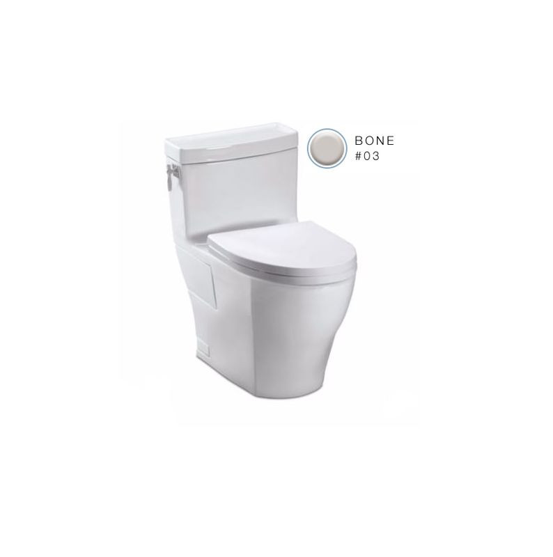 TOTO MS626214CEFG#03 Legato Floor Mount Elongated Toilet With Soft Close Seat In Bone