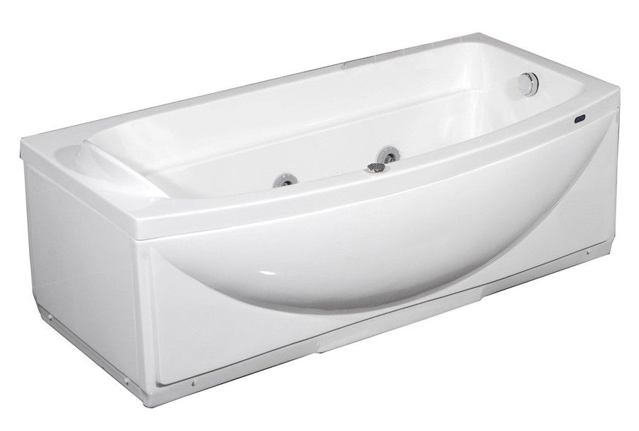 """Aston Global MT601 68"""" Whirlpool Bath Tub in White - Left Or Right Hand"""