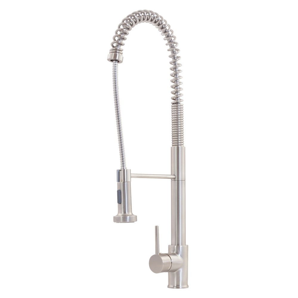 Novatto NKF-H07BN Brass Pull Down Spray Kitchen Faucet In Brushed Nickel