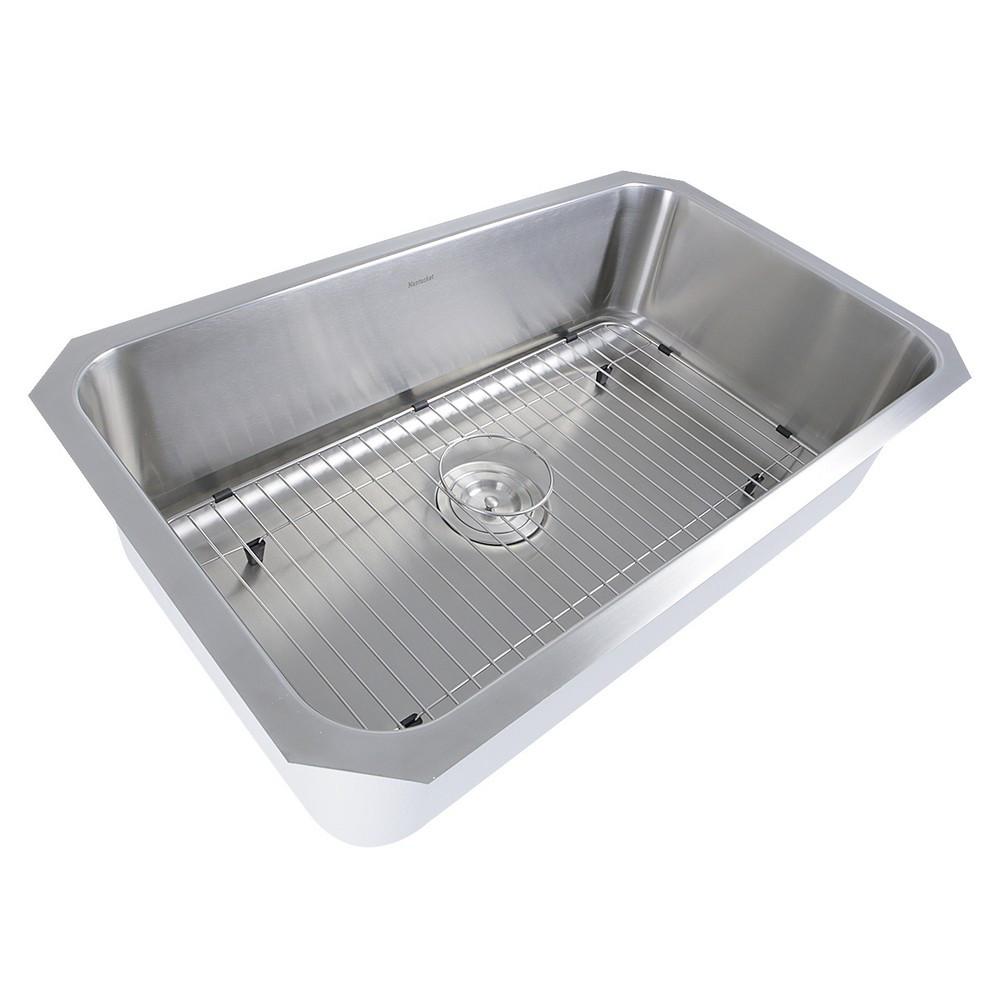 Nantucket Sinks NS43-11-16 30 Inch Large Rectangle Undermount Kitchen Sink