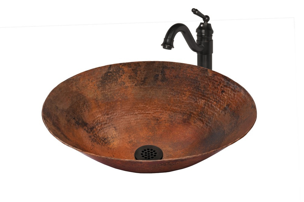 Novatto NSFC-CV003NA359ORB BILBOA Copper Vessel Sink - Oil Rubbed Bronze