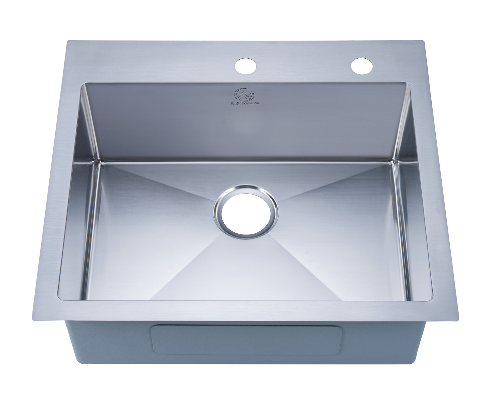 Stufurhome NW-2522SO Overmount Stainless Steel 25 Inch 2-Hole Single Bowl Kitchen Sink