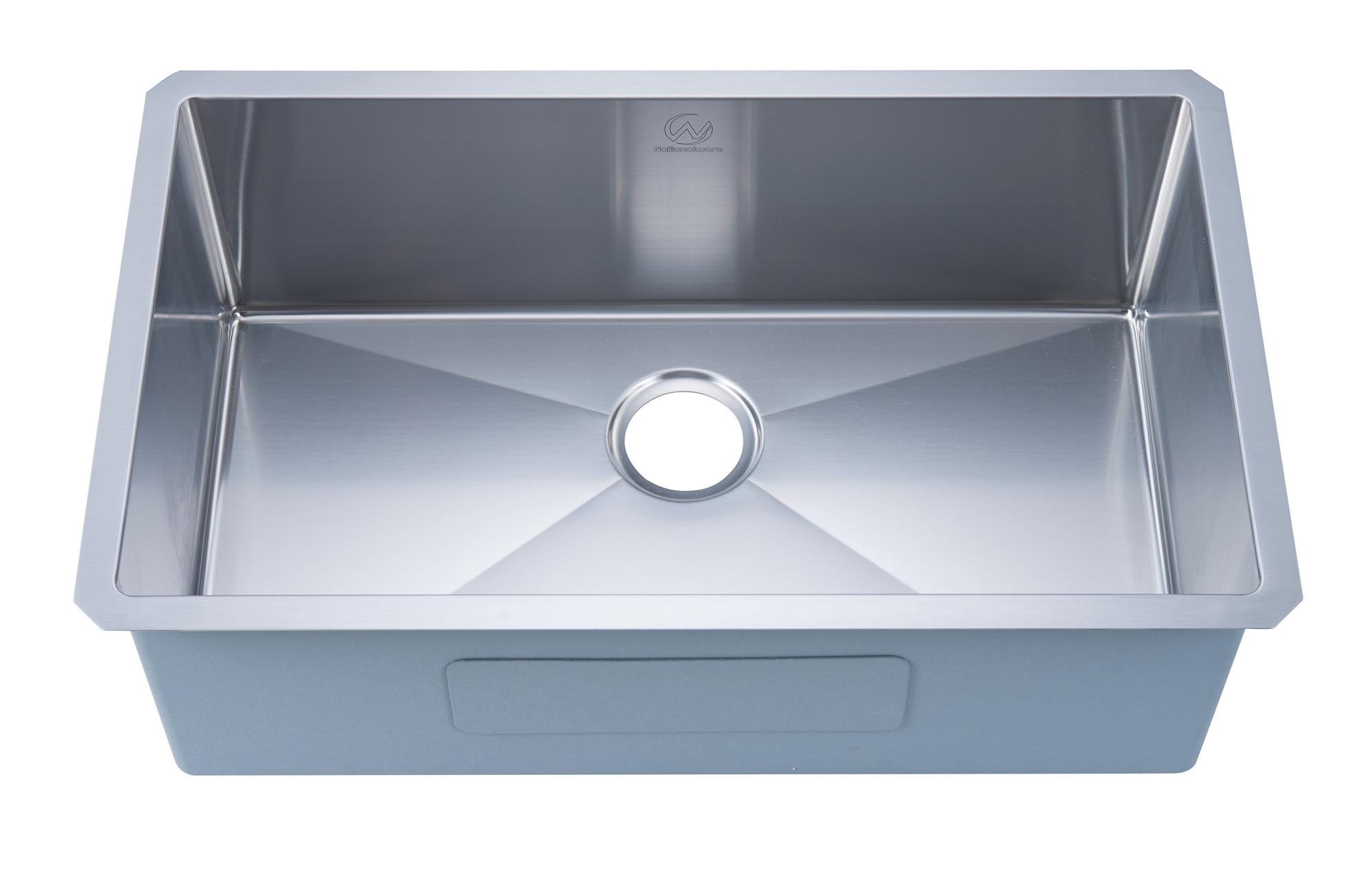 Stufurhome NW-3018S Undermount Stainless Steel 30 Inch Single Bowl Kitchen Sink