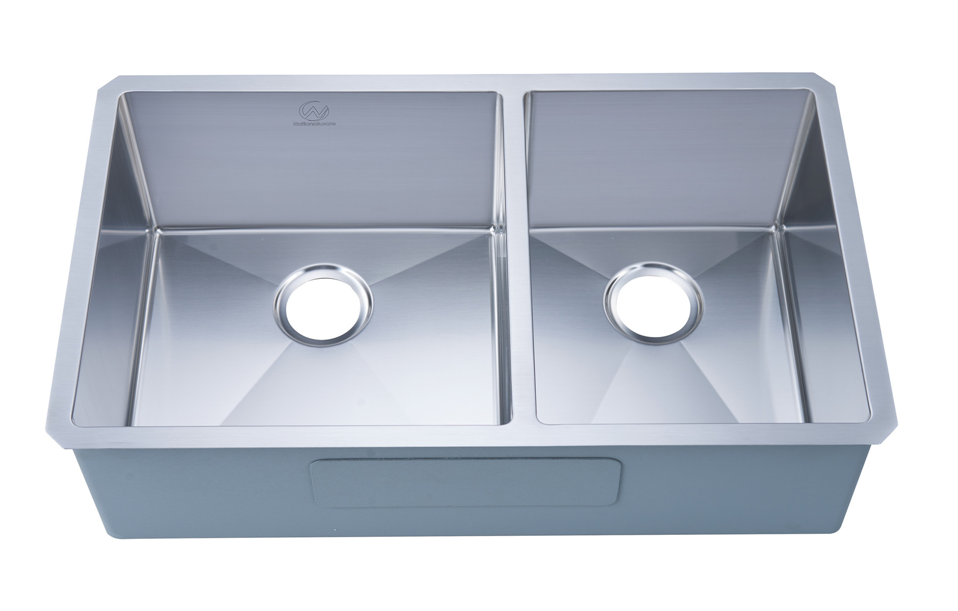 Stufurhome NW-3319D Undermount Stainless Steel 33 Inch Double Bowl Kitchen Sink