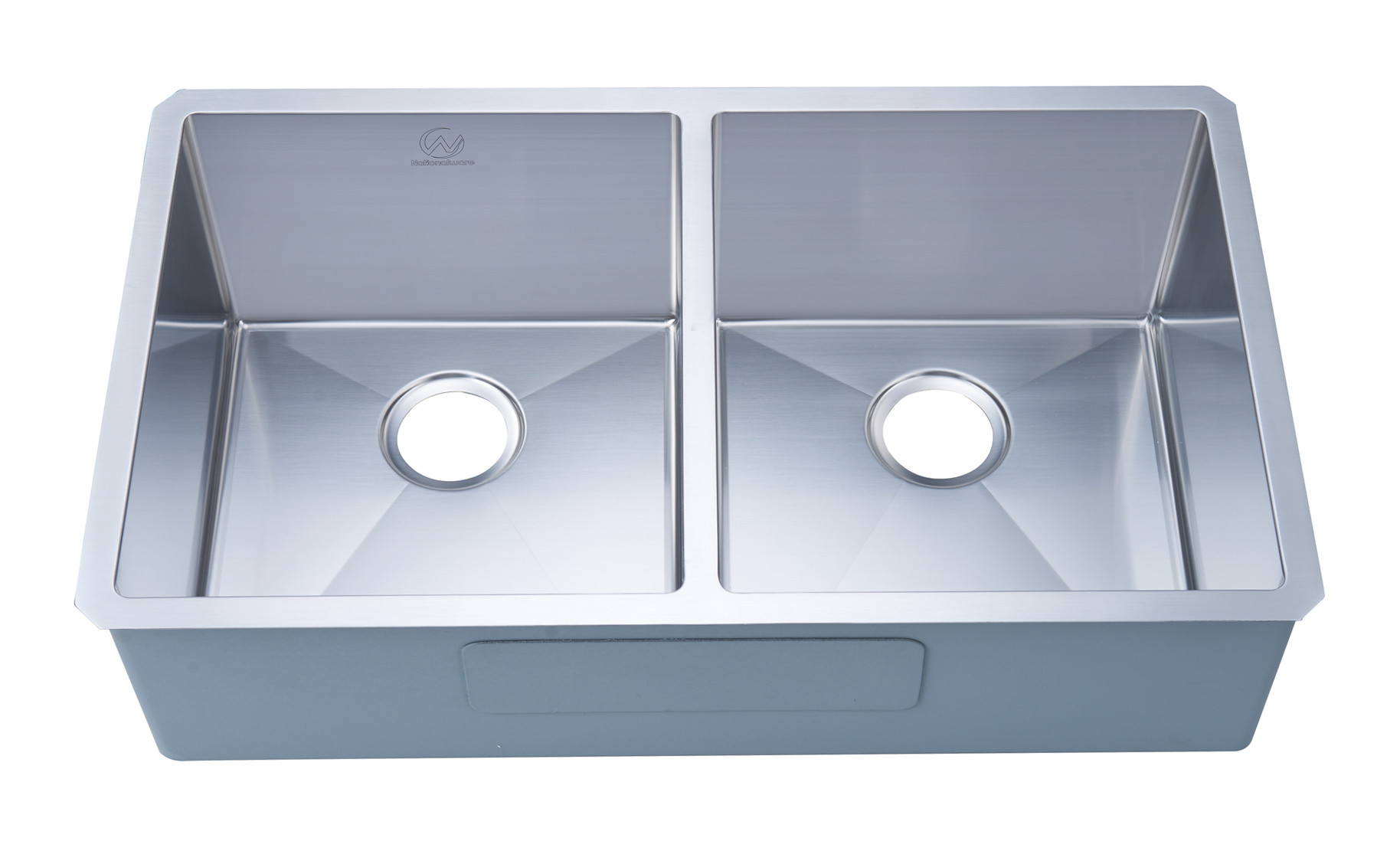 Stufurhome NW-3320D Undermount Stainless Steel 33 Inch Double Bowl Kitchen Sink