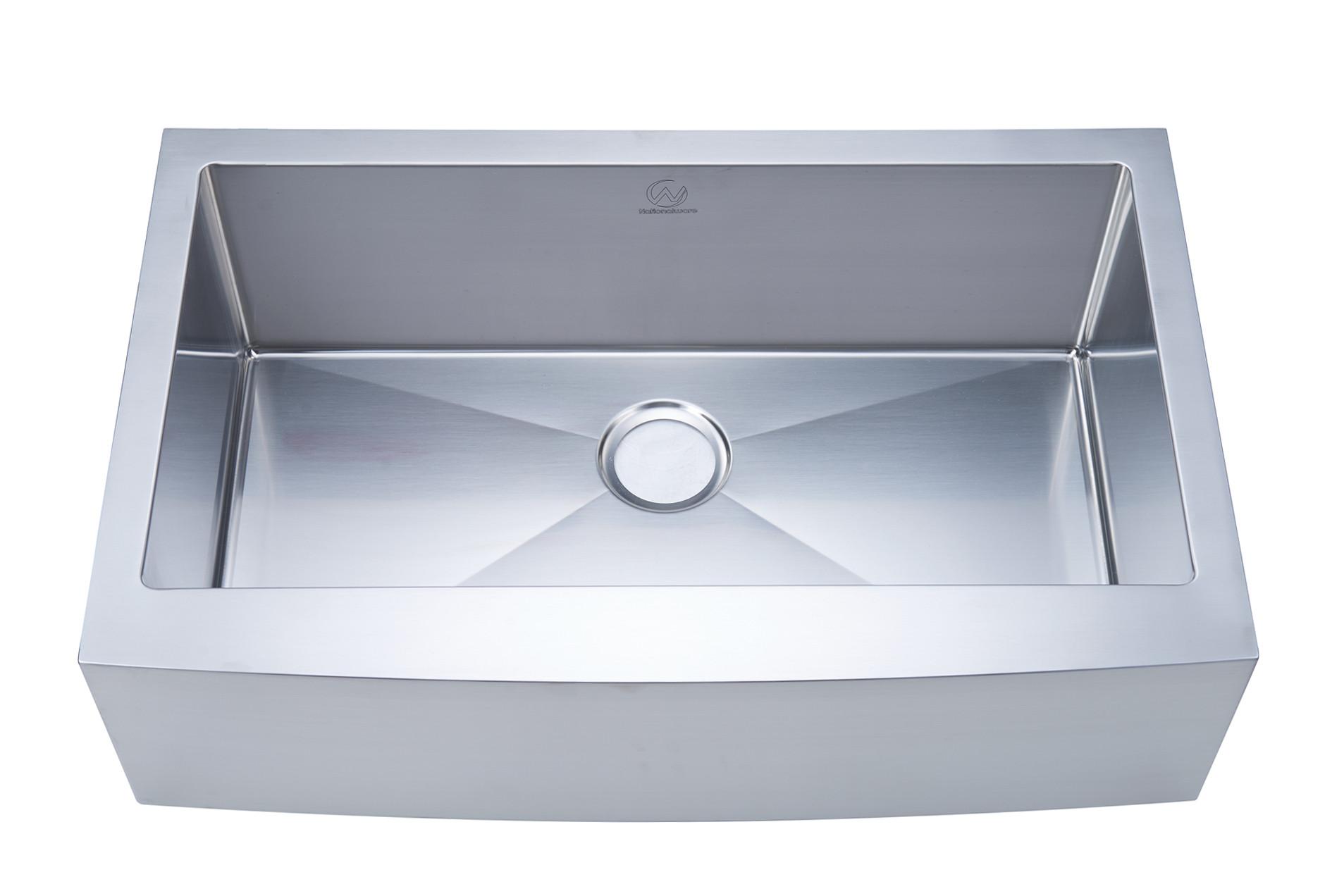 Stufurhome NW-3321S Apron/Farmhouse Stainless Steel 33 Inch Single Bowl Kitchen Sink