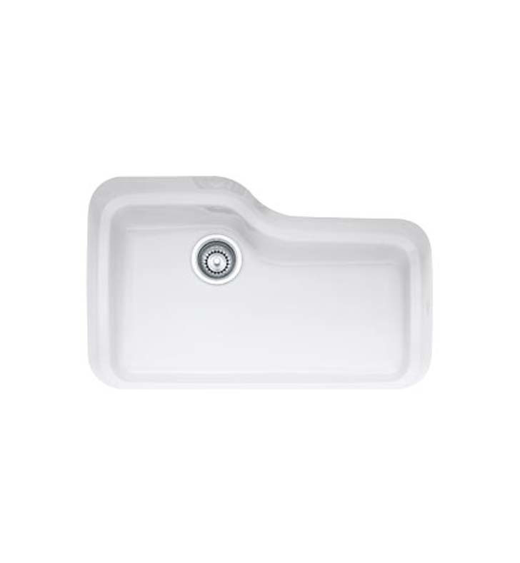 Franke ORK110 Orca Single Bowl Undermount Fireclay Sink Available in Biscuit and White