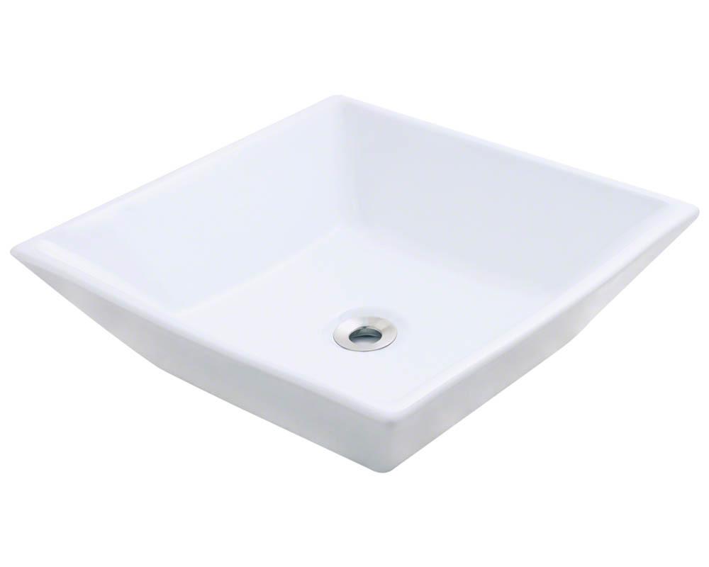 White Porcelain Vessel Sink