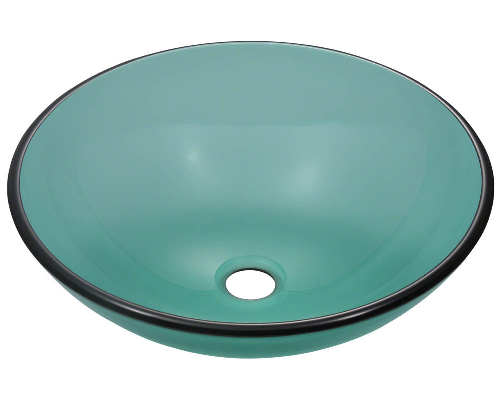 Polaris Sinks P106-Emerald Rounded Fully Tempered Glass Vessel Sink