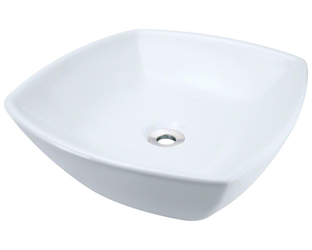 Polaris Sinks P2081VW Unique Modern Porcelain Vessel Sink in White
