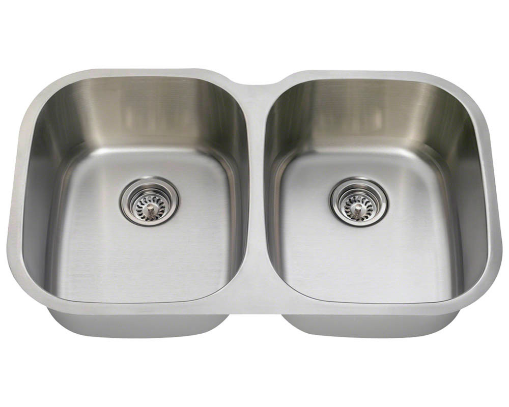 Polaris P405 Equal Double Bowl Stainless Steel Sink
