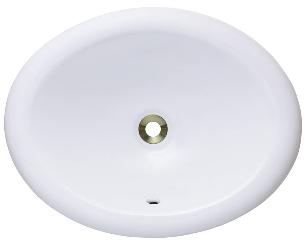 White Overmount Bathroom Sink