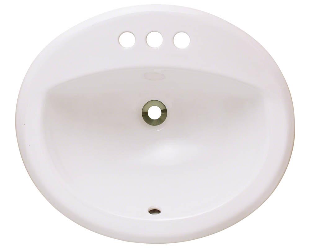 Bisque Overmount Bathroom Sink