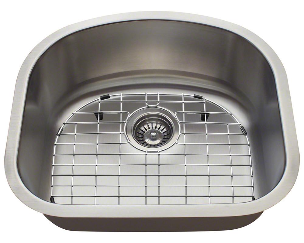 Polaris Sinks P812-16-ENS 16 Gauge Single Bowl Kitchen Ensemble
