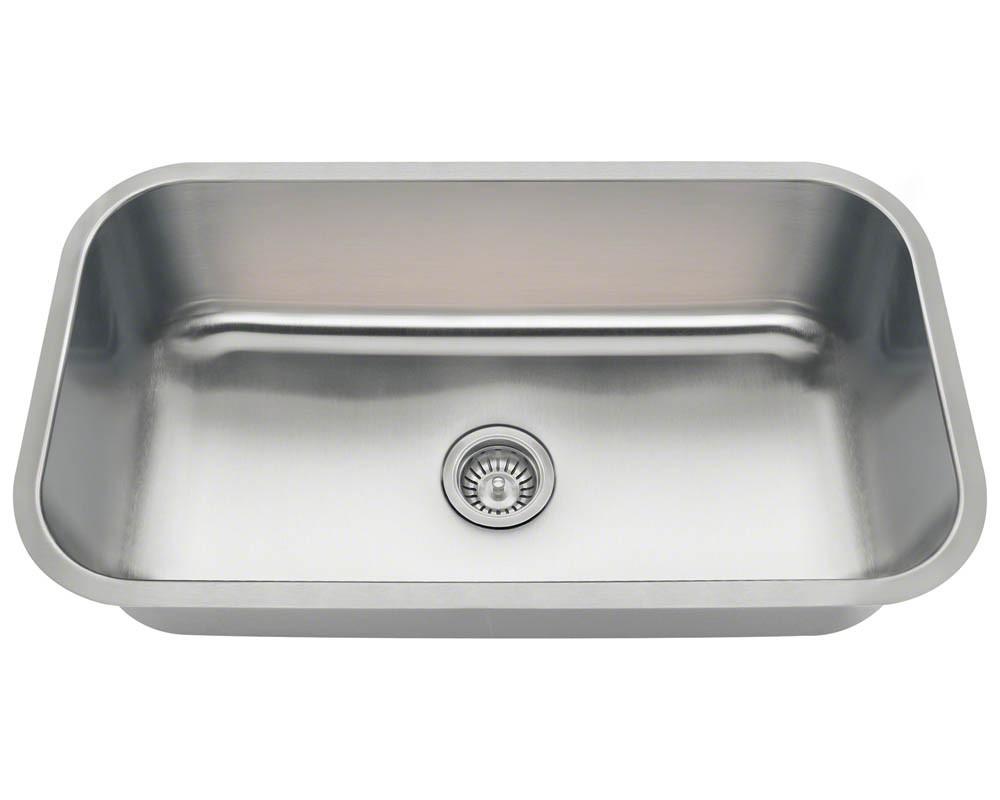 Polaris PC8123 Single Bowl 18 Gauge Stainless Steel Kitchen Sink