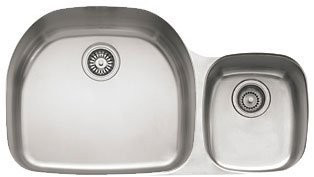 Franke PCX12009 Prestige Double Bowl Undermount Sink with Right Hand Side Small Bowl