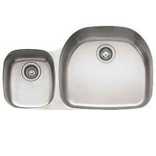 Franke PCX12009LH Prestige Double Bowl Undermount Sink with Left Hand Side Small Bowl